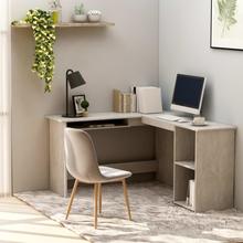 Hjørneskrivebord 120x140x75cm - betonggrå