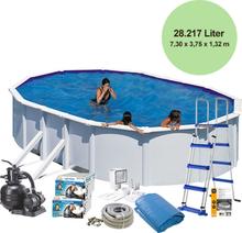 Basseng /Pool Delux 132 610x375cm 23281 l