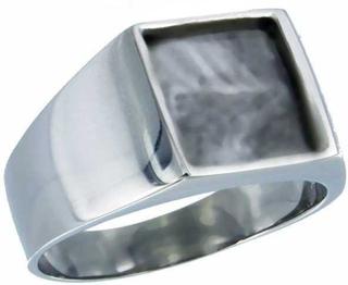 Ring Stainless steel Robust stilfull polerad | Stålringar | MisterBling