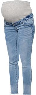 Mama Licious Capri 3/4 Jeans MLCRINKLE light blue denim - blå - Gr.27/32