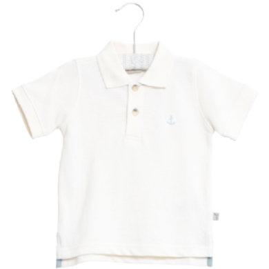 WHEAT Poloshirt Anchor white - hvid - Gr.fra 6 år - Dreng - pinkorblue