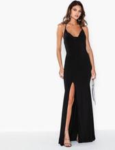 Missguided Slinky Cowl Neck Split Detail Maxi Dress Maxiklänningar
