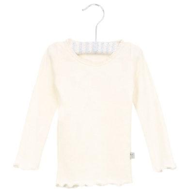 Wheat Rib Shirt Lace ivory - hvid - Gr.fra 3 mdr. - Pige - pinkorblue