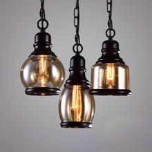 Retro Glas Pendelleuchte Vintage Industriebeleuchtung Bar Loft