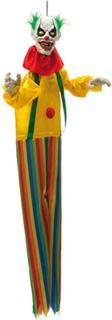 Skremmende Klovn - Dekorasjon med Lyd, Lys og Bevegelse 130 cm