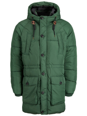 JACK & JONES Padded Parka Coat Men Green