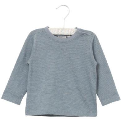 Wheat Shirt Ditmar dustyblue - blå - Gr.fra 3 mdr. - Dreng - pinkorblue