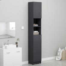 Badeværelsesskab 32x25,5x190 cm spånplade grå