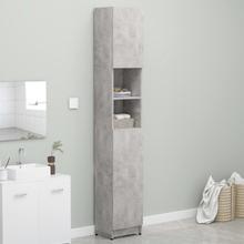 Badeværelsesskab 32x25,5x190 cm spånplade betongrå