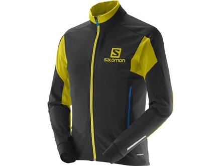 Kampanjahintaan Miesten Salomon Momentum Softshell M Hiihtotakki, Black / Corona Yellow
