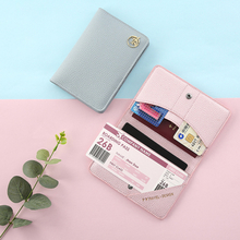 Damen Solider Reisepasshalter PU-Kartenhalter aus Leder