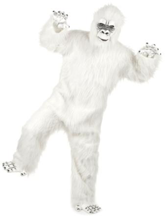 Luksuriøst hvidt Yeti kostume voksen One-size - Vegaoo.dk