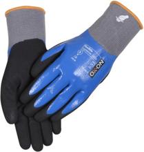 Ox-On Flexible Supreme nitril handske med ytbeläggning, storl. 9
