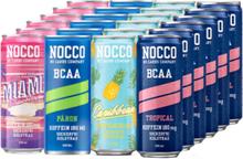 24 x NOCCO BCAA, 330 ml, Mixade smaker
