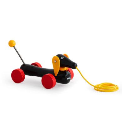 Brio træk-legetøj gravhund - pinkorblue
