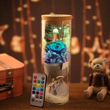 Everlasting Flower Wishing Bottle Leuchtende Glasabdeckung Kreatives Geschenk Valentinstag
