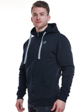 Star Mens Zip Hood, Navy