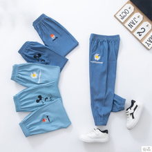 2020 kids Sport Pants Boy Fashion Baby Soft Cotton Denim Pants Anti-Mosquito Long Trousers Mickey Cartoon Boys Pants for Girls