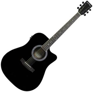 Santana LA100 Western Guitar V2 - Cutaway, sort