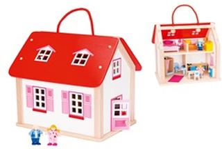 Goki Poppenhuis - Koffer Poppenhuis