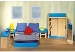 Goki Poppenhuismeubel - Slaapkamer