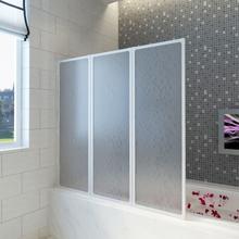 vidaXL Bruser Badekar væg skærmbillede 141 x 132 cm 3 Sammenfoldelig Paneler