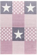 Livone Happy Rugs Lastenhuoneen matto, Starwalk 3/vaaleanpunainen, 120 x 180 cm - roosa/pinkki