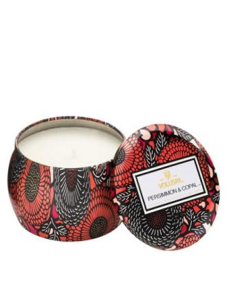 Voluspa Persimmon & Copal Decorative Tin Candle