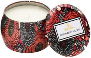 Voluspa Persimmon & Copal Decorative Tin Candle Duftlys