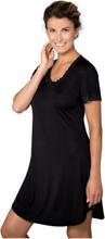 Silk Jersey - Nightgown W.Sleeve Nattlinne Vit Lady Avenue