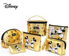 Original Disney Mickey Minnie Travel Multi-Function Makeup Bag Lipstick Makeup Brush Storage Female Portable Cute Bag Female Bag