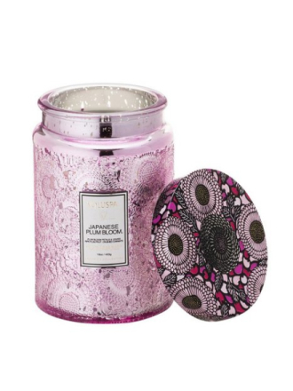 Voluspa Large Glass Jar Candle Japanese Plum Bloom