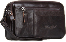 CHEER SOUL Fashion Genuine Leather Men Clutches Bag ID Card Holder Cowhide High Capacity Pop up Credit Card Coin Purse Handbag