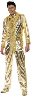 Elvis Maskerad Dräkt i Guld