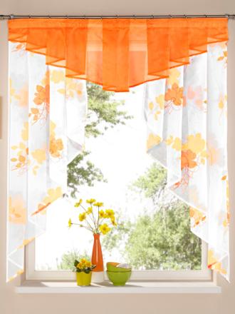 Kafégardinsett Webschatz terrakotta
