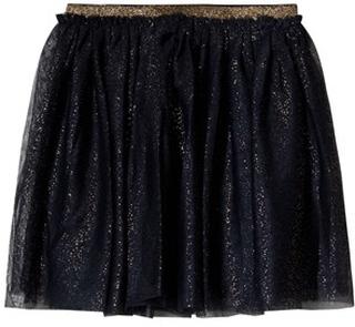 Mini A Ture Navy & Gold Glitter Flippy Skirt 98 cm (2-3 år)