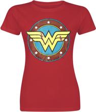 Wonder Woman - Logo -T-skjorte - rød