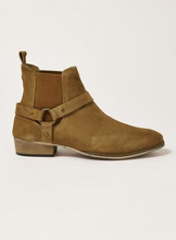 Tan Suede Mount Harness Boots