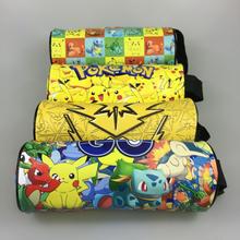 Pokemon Cartoon Pencil Case Pikachu Pencilcase Boutique Estuches School Supplies Estojo Stationery Gift Coin Pouch Zipper Bag