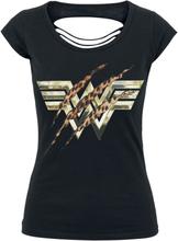 Wonder Woman - 1984 - The Cheetah Vs Wonder Woman -T-skjorte - svart