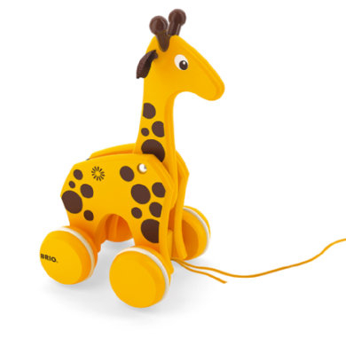 Brio træk-legetøj giraf - pinkorblue