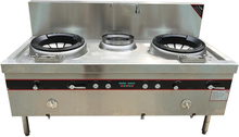 2 Heads Stove Gas Catering Equipment Chinese Restaurant Heavy Duty Commercial Kitchen 2 Wok Burner Blast Diffusion Burner