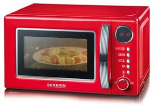 Severin Mikrovågsugn Retro 700W Röd