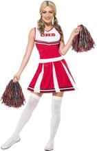 Cheerleader Rød Kostume Small