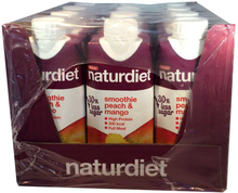 12-pack Naturdiet Smoothie Peach & Mango - 60% rabatt