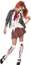 Zombie Koulutyttö Naamiaisasu Medium