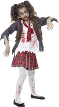 Zombie Koulutyttö Naamiaisasu Lapset Medium