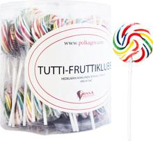 Hel Låda Klubbor Tuttifrutti 60 x 25g - 84% rabatt