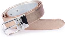 Vändbart skärp i äkta läder från Fadenmeister Berlin silver