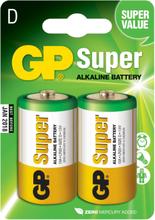 GP D-batteri Super Alkaline 13A/LR20 2-pack
